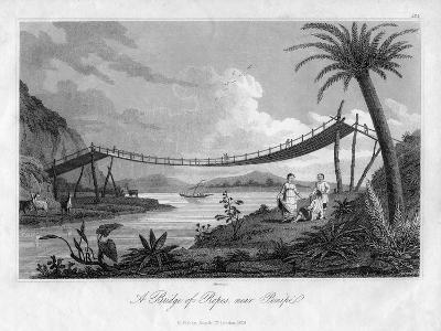 A Bridge of Ropes, Near Penipe, Ecuador, 1829