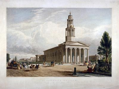 St Pancras New Church on the Euston Road, London, C1822