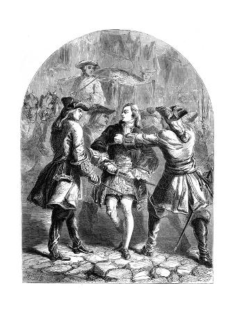 The Arrest of the Young Pretender in Paris, 18th Century