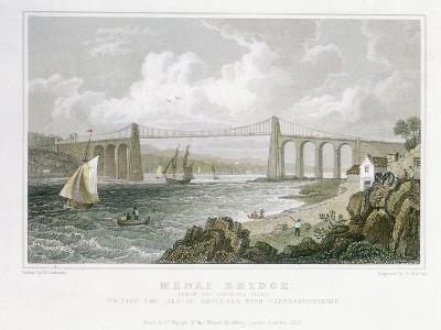 Menai Bridge (From the Anglesea Sid), 1830