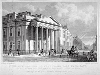 The Royal College of Physicians, Pall Mall East, Westminster, London, 1828