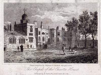 The Chapel at Charterhouse with Figures, Finsbury, London, 1817