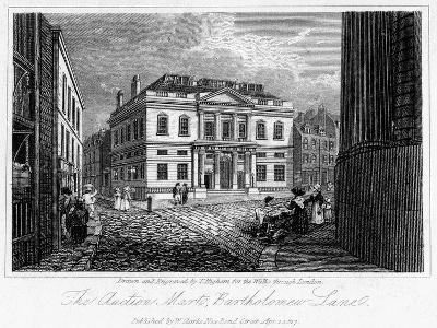 The Auction Mart, Bartholomew Lane, City of London, 1817