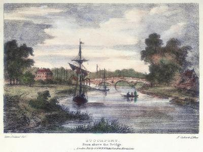 Stourport-On-Severn, Worcestershire, from Above the Bridge, C1795