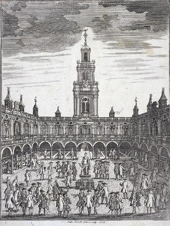 Courtyard of the Royal Exchange (2N) London, 1729