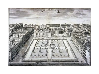 Bird's-Eye View of Leicester Square, Westminster, London, C1750