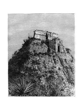 Uxmal, Pre-Columbian Ruined City of the Mayan Civilization, Yucatán, Mexico, 19th Cen