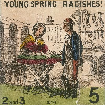 Young Spring Radishes!, Cries of London, C1840