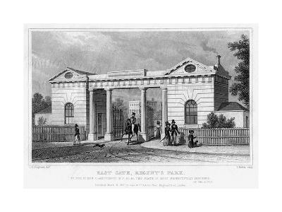East Gate, Regent's Park, London, 1827