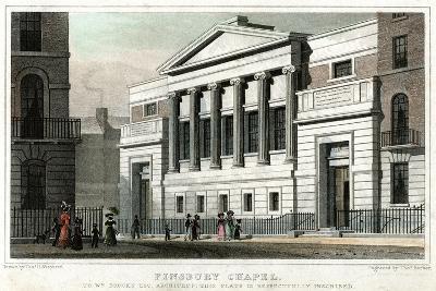 Finsbury Chapel, City of London, 1827