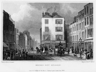 Middle Row, Holborn, London, 1830