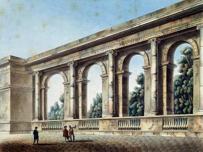 View of an Arched Gallery, C1791-C1794