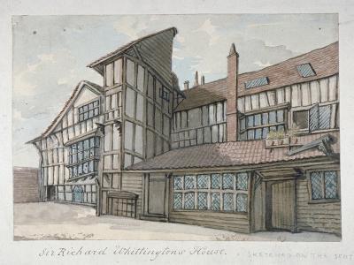 Sir Richard Whittington's House, Milton Street, City of London, 1800