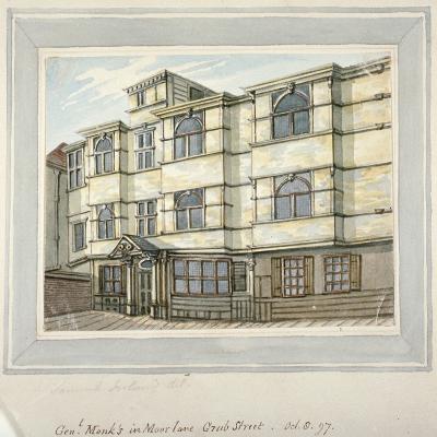 House of George Monck, Duke of Albermarle in Grub Street, Now Milton Street, City of London, 1797