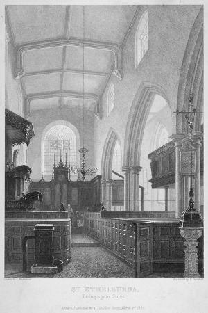 Church of St Ethelburga-The-Virgin Within Bishopsgate, City of London, 1860