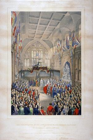 Visit of Napoleon III and the Empress Eugenie of France, Guildhall, City of London, 1855