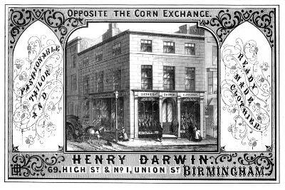 Henry Darwin Tailor's Shop, Birmingham, 19th Century