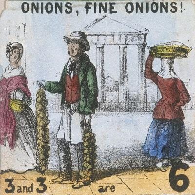 Onions, Fine Onions!, Cries of London, C1840