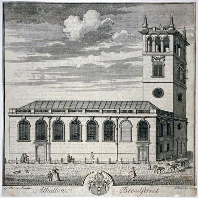 All Hallows Church, Bread Street, London, C1730