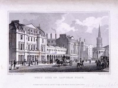 Langham Place, Marylebone, London, 1828