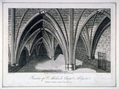 St Michael's Crypt, Aldgate, London, 1805