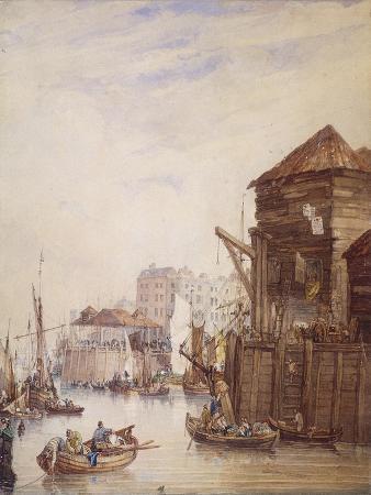 Billingsgate Wharf, London, 1820