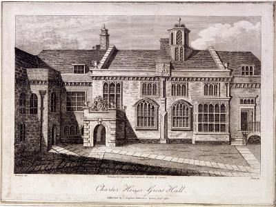 The Great Hall in Charterhouse, Finsbury, London, 1805