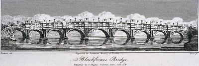 Blackfriars Bridge, London, 1806
