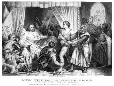 King Richard I (1157-119), Forgiving Bertrannd De Gurdun, Late 19th Century