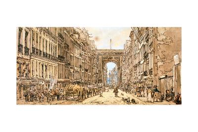 The Faubourg and the Porte Saint-Denis, 1801