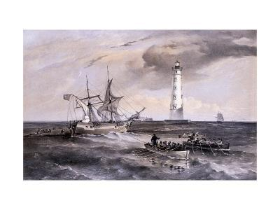 The Lighthouse at Cape Chersonese, Looking South, Crimea, Ukraine, 1855