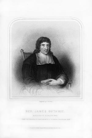 Reverend James Guthrie, Minister of Stirling, 1661