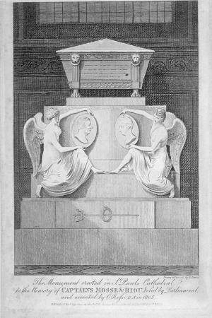 Monument to Captains James Mosse and Edward Riou, St Paul's Cathedral, City of London, 1806