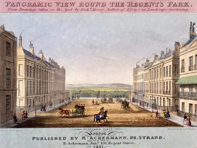 Portland Place, Marylebone, London, 1831