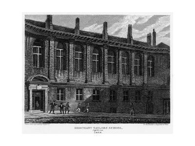 Merchant Taylors School, Suffolk Lane, City of London, 1815
