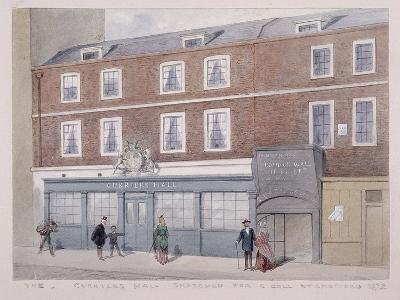 Curriers' Hall, London Wall, London, 1872, with Figures