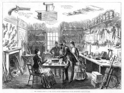 The Criminal Museum at the Convict Office, Metropolitan Police Department, London, 1883