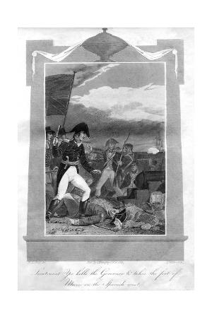 Lieutenant Yeo Kills the Governor and Takes the Fort of Muros on the Spanish Coast, 1816
