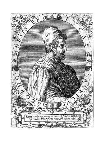 Lucas Gaurico, Italian Astronomer, Astrologer and Mathematician, 16th Century