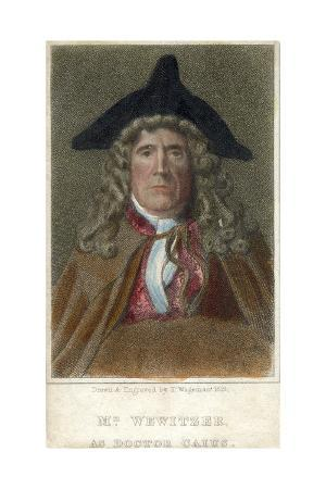 Mr Wewitzer as Doctor Caius, 1819