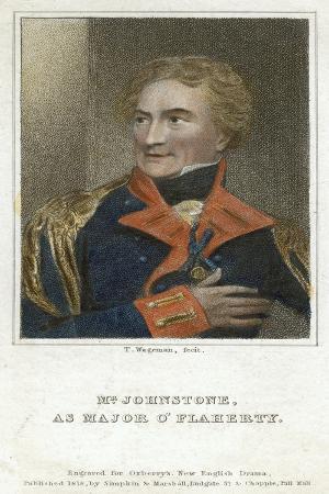 Mr Johnstone as Major O'Flaherty, 1818