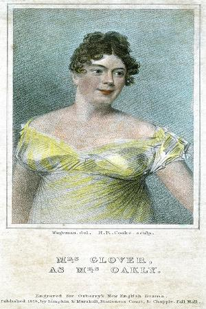 Mrs Clover, as Mrs Oakly, 1818