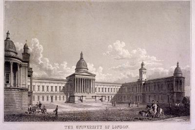 The University of London, Gower Street, St Pancras, London, C1835