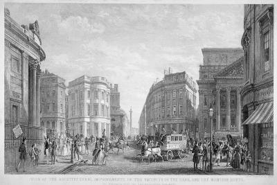 The Bank of England and the Newly-Straightened Prince's Street, City of London, 1837