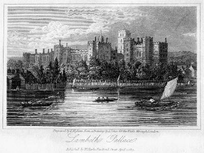 Lambeth Palace, London, 1817