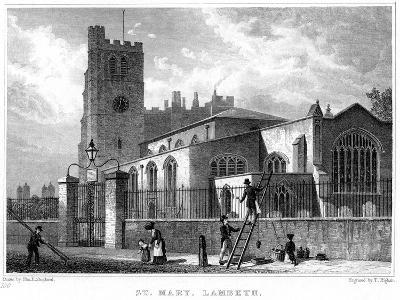 Church of St Mary, Lambeth, London, 1831