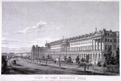 Regent's Park, Marylebone, London, C1830