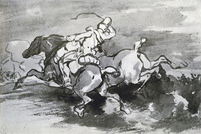 Artilleryman Leading His Horses into the Field, 1913