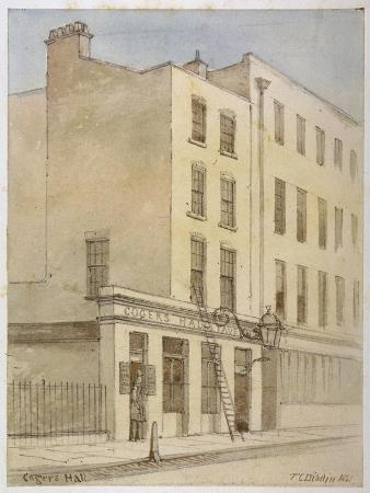 Bride Lane, City of London, 1851