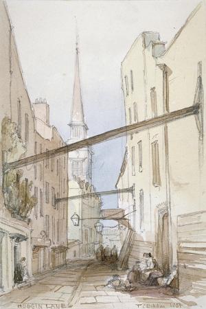 Huggin Lane, City of London, 1851